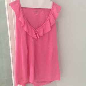 Lilly Pulitzer pink cotton tee